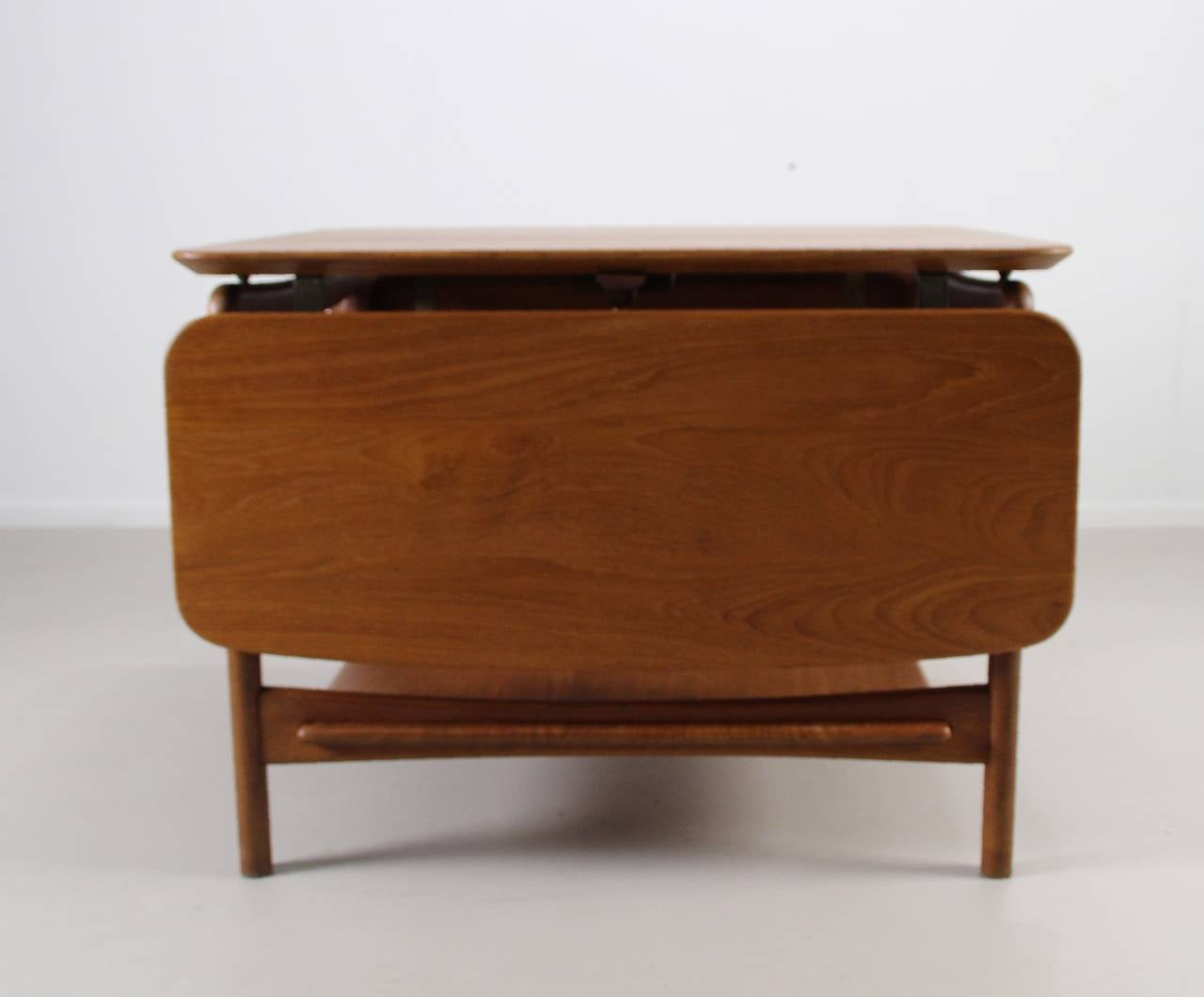 Drop Leaf Coffee Table By Peter Hvidt And Orla M Lgaard Nielsen At 1stdibs