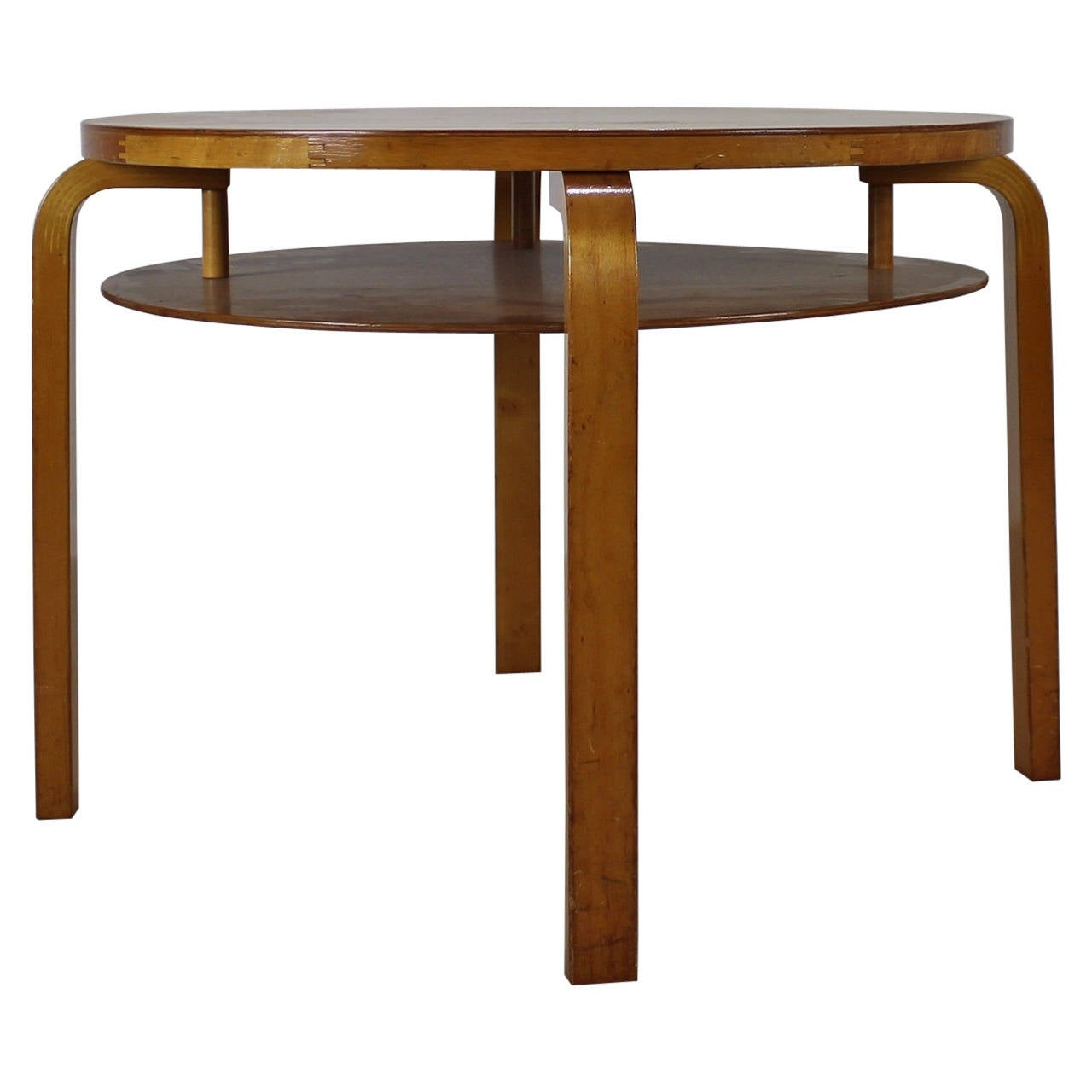 Birchwood Lacquered Alvar Aalto Table No 70 1