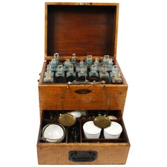 English Apothecary Cabinet End of the 19th Century