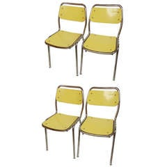 Set Of Four Vintage Chairs, Italy 1950's