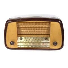 Bakelite Radio Signed Henry Brun Royet 3 Rue St. Etienne 1950s