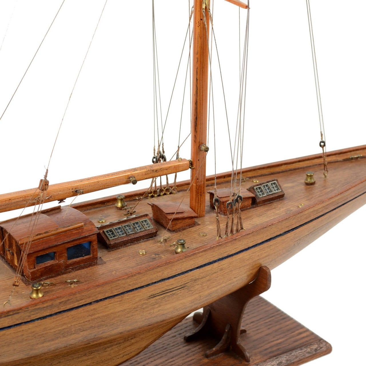 Scale Model Of The Yacht Cambria Made In 1960s At 1stdibs