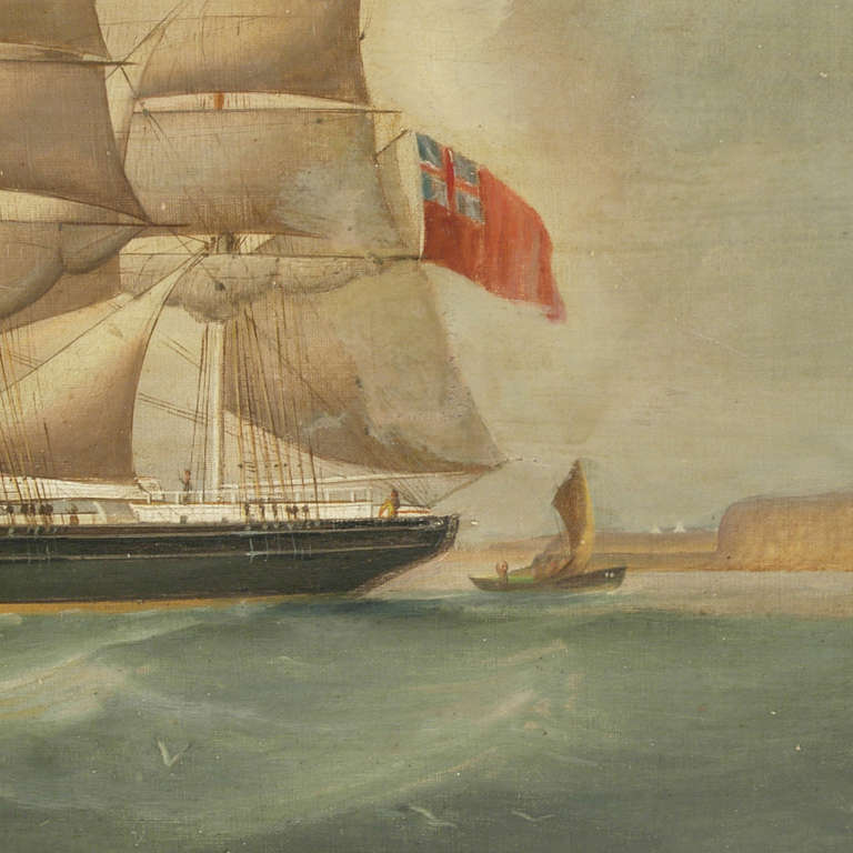 Ship Portrait, Oil on Canvas, First Half of the 19th Century 1