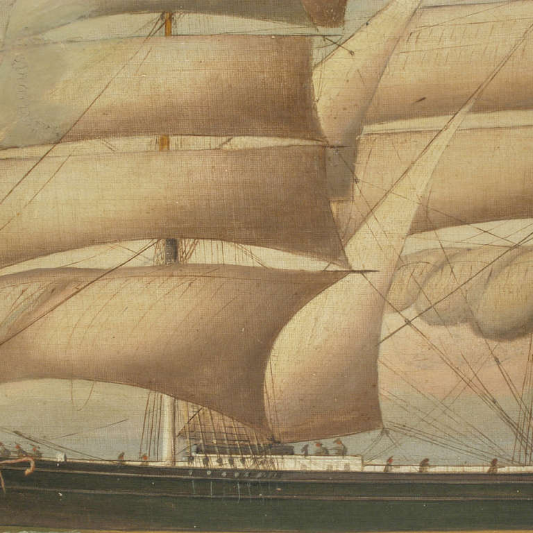 Ship Portrait, Oil on Canvas, First Half of the 19th Century 2