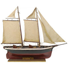 Wooden Model of a Schooner