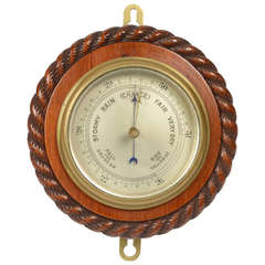 Mahogany Barometer with the Edge Carved like a Rope, 1920s