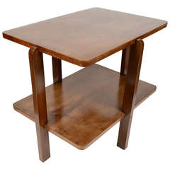 Italian Manufactured Side Table with Shelf