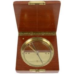 Topographic Compass Signed Keuffel and Esser, Mahogany Box, Mid-19th Century