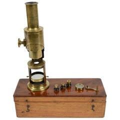 "Brass ""Drum Microscope,"" First Half of the 19th Century"
