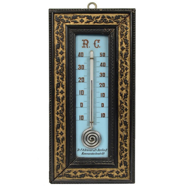 8 Centigrade And Reaumur Scale Mercury Thermometer