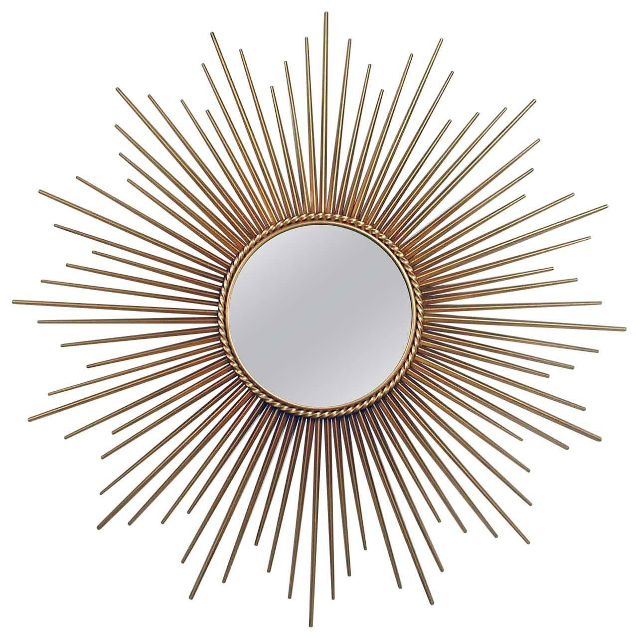 Sunburst Wall Mirror large french chaty vallauris gilt sunburst starburst wall mirror