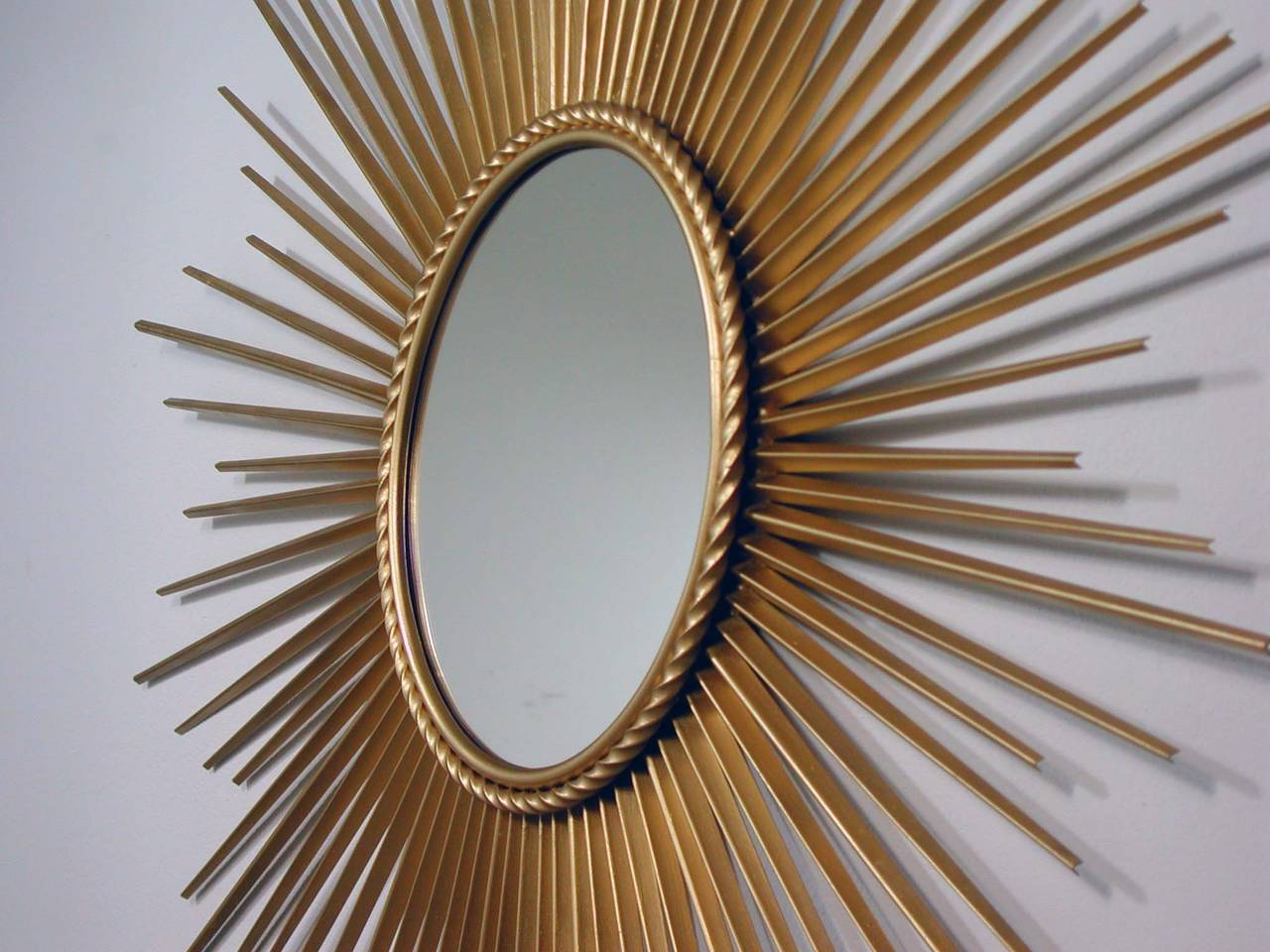 Large French Chaty Vallauris Gilt Sunburst Starburst Wall