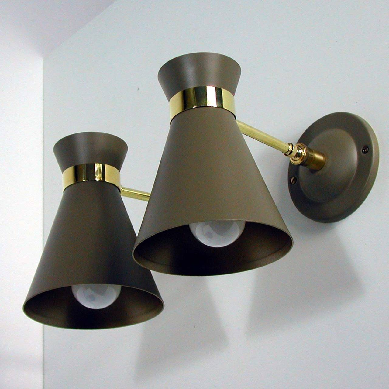 Wall Sconces Mid Century : Pair of Mid Century French Sconce Wall Lamps, Guariche Lunel Era at 1stdibs