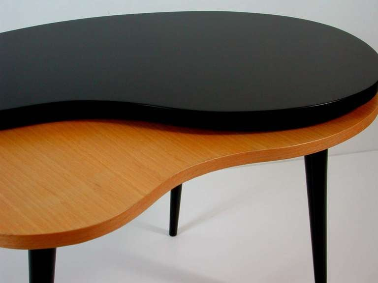 1950s Kidney Lazy Susan Rotary Tripod Coffee Side Table At 1stdibs