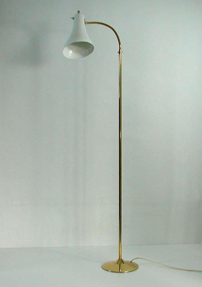 1950s Italian Mid Century Gooseneck Floor Lamp At 1stdibs