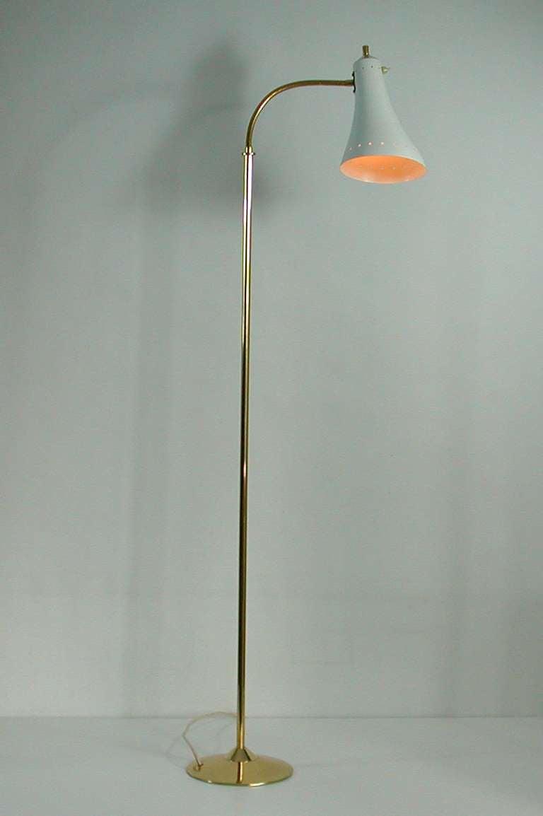 1950s italian mid century gooseneck floor lamp at 1stdibs for 1950s floor lamps