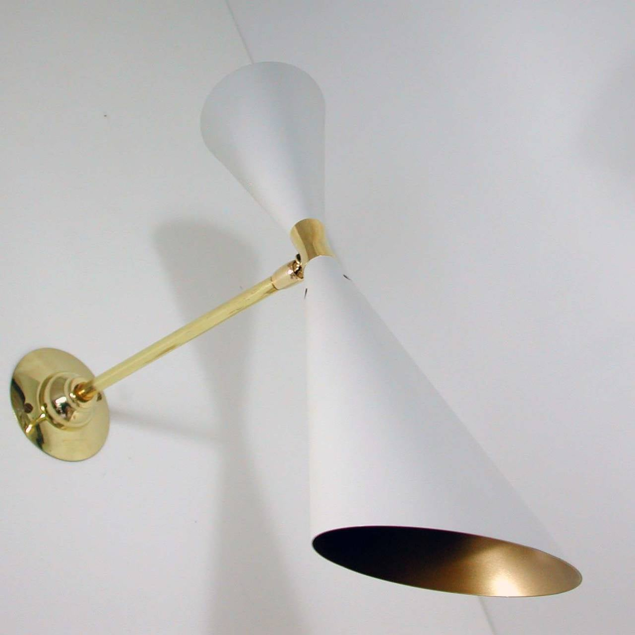 Mid-Century French 1950s Diabolo Wall Light Sconce from the Guariche Lunel Era For Sale 2