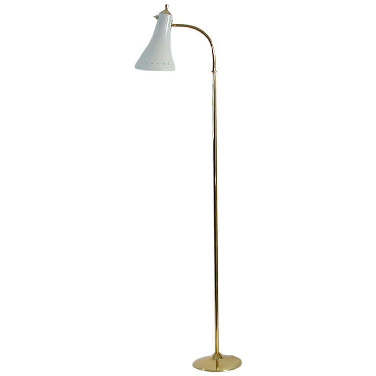 1950s Italian Mid Century Gooseneck Floor Lamp