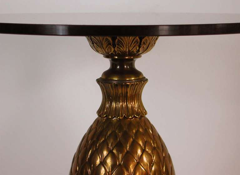 Italian 1950s Bronze and Glass Pine Cone Side Table Cocktail Table For Sale 2