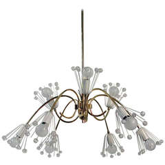 1950s Emil Stejnar Nine-Arm Chandelier Ceiling Lamp for Nikoll Vienna