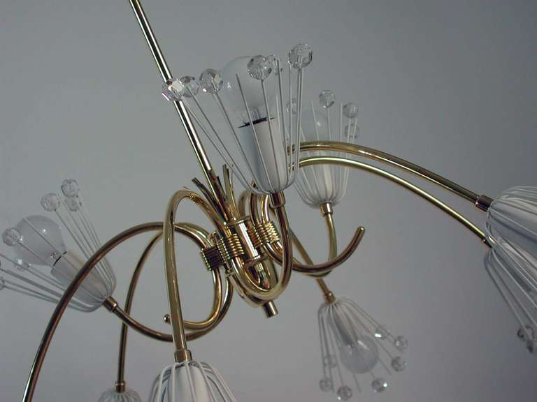 1950s Emil Stejnar Nine Arm Chandelier Ceiling Lamp For