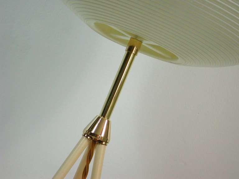 Mid Century 1950s Rotaflex Heifetz Tripod Moon Floor Lamp