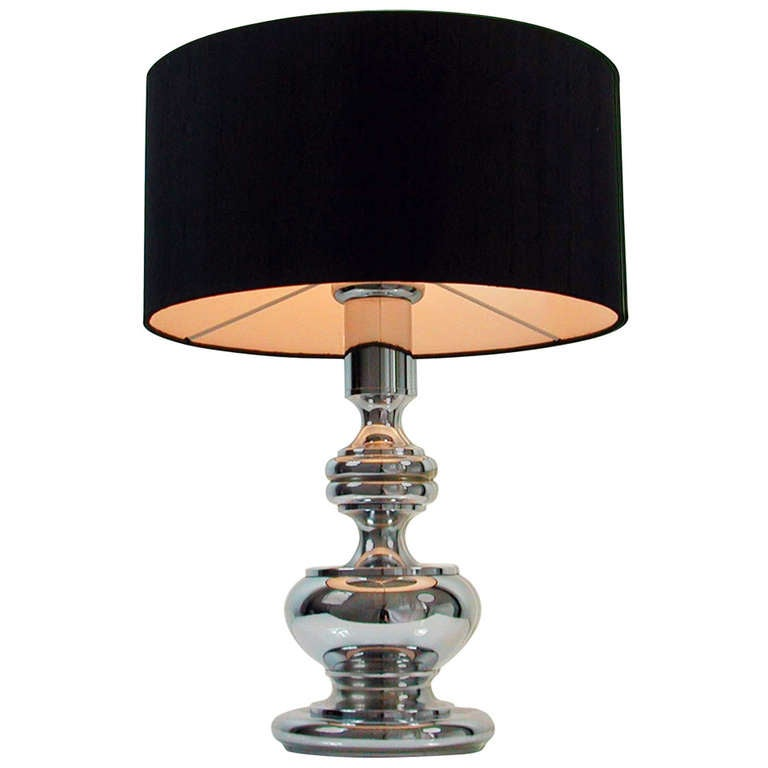 Mid-Century 1960-1970s Chrome Bubble Table Lamp