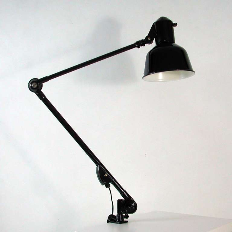 1930s bauhaus architects industrial work lamp task lamp by sis at 1stdibs. Black Bedroom Furniture Sets. Home Design Ideas