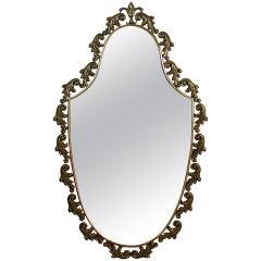 Mid-Century, 1950s Italian Neoclassical Bronze Wall Mirror