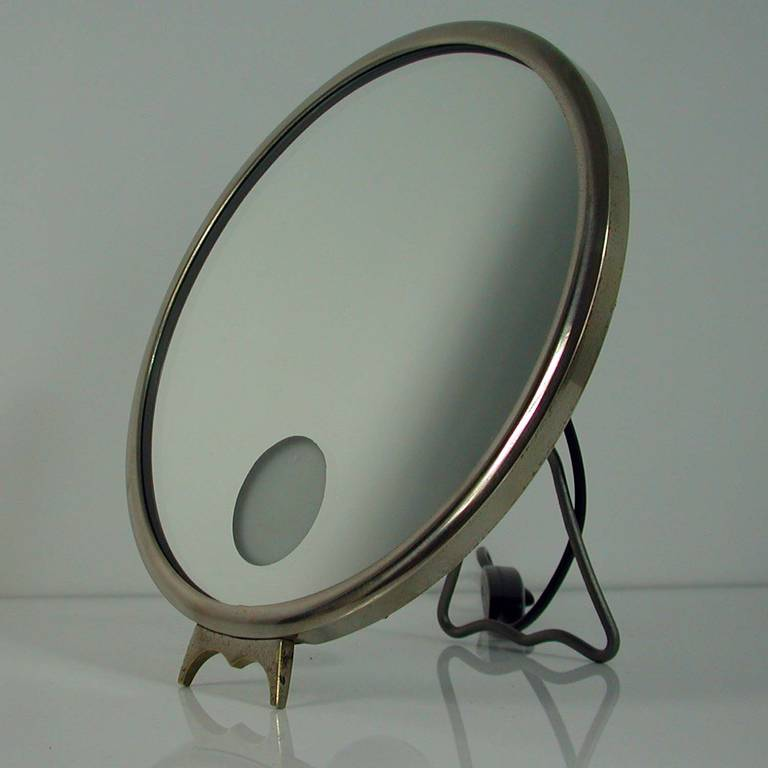 French Art Deco Illuminated Vanity Mirror Le Mirophar By