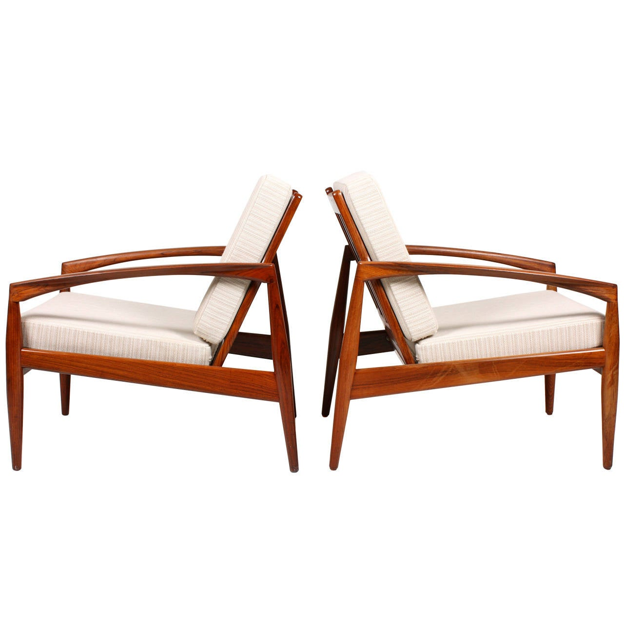 Pair of easy chairs by kai kristiansen at 1stdibs - Kai kristiansen chairs ...