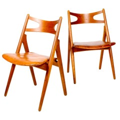 Pair of Side Chairs by Wegner