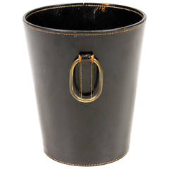 Waste Basket in Leather