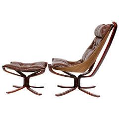 Falcon Chair and Ottoman