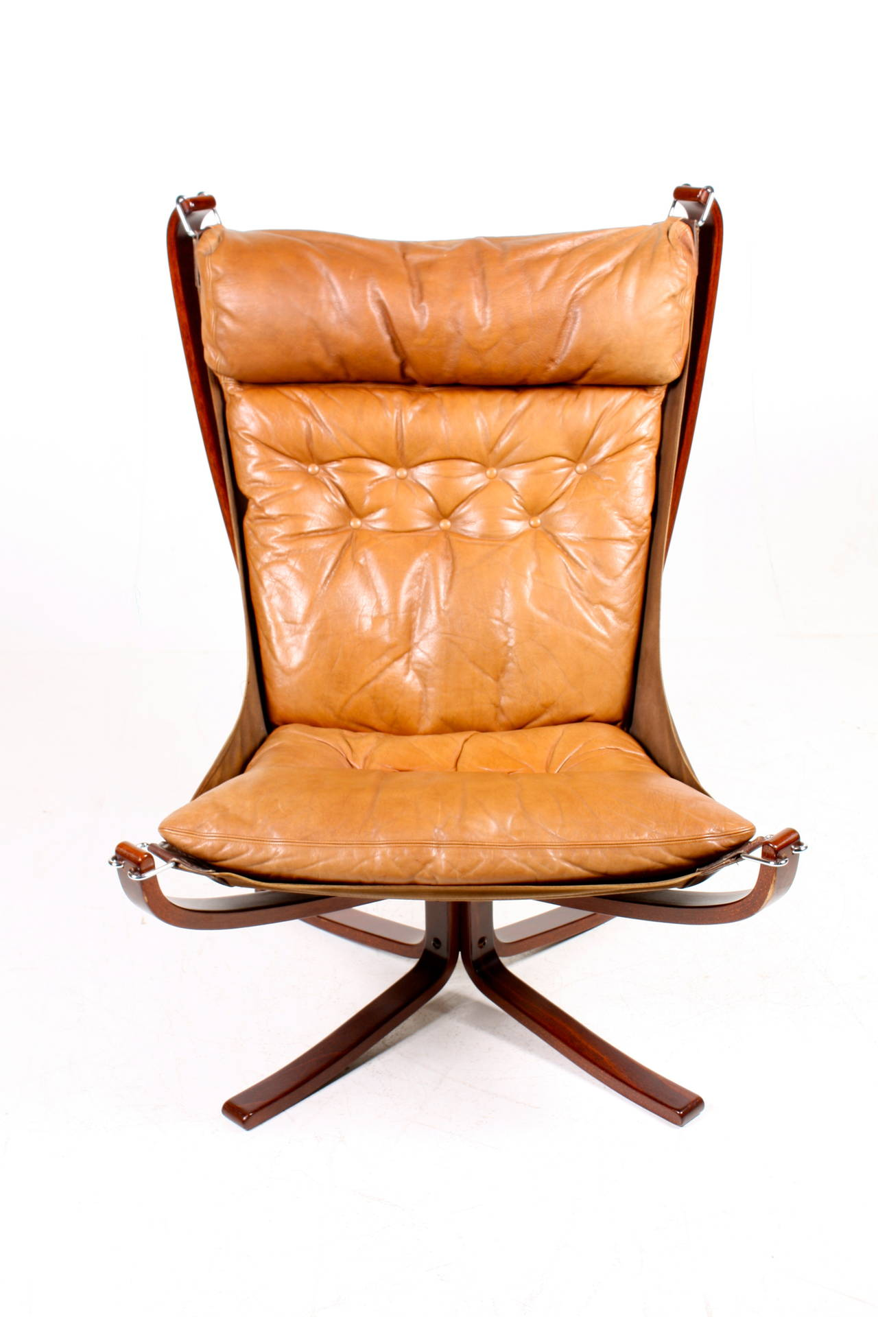 Original Highback Falcon Chair And Ottoman For Sale At 1stdibs