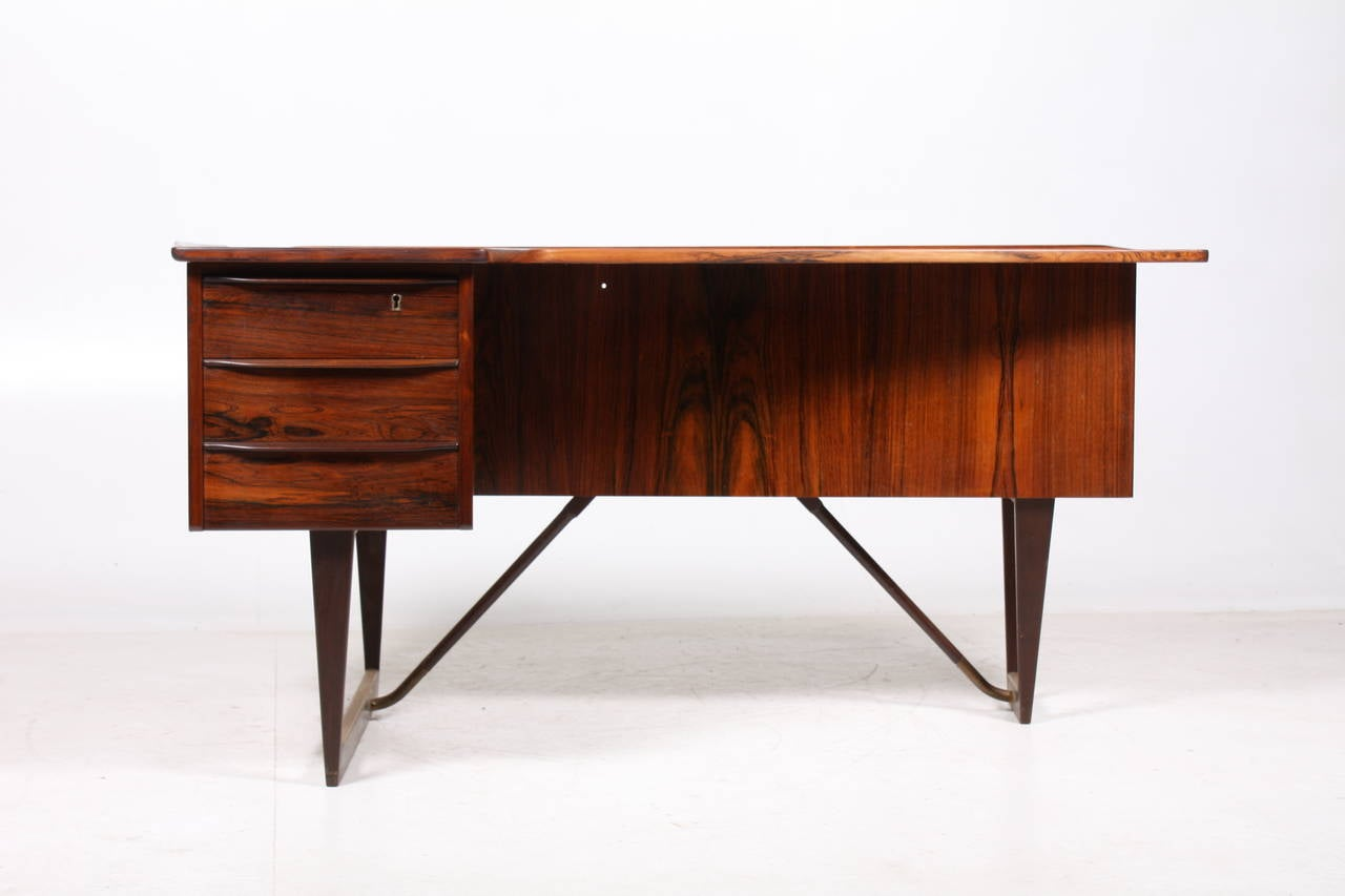 Scandinavian Modern Desk in Rosewood by SA Madsen For Sale