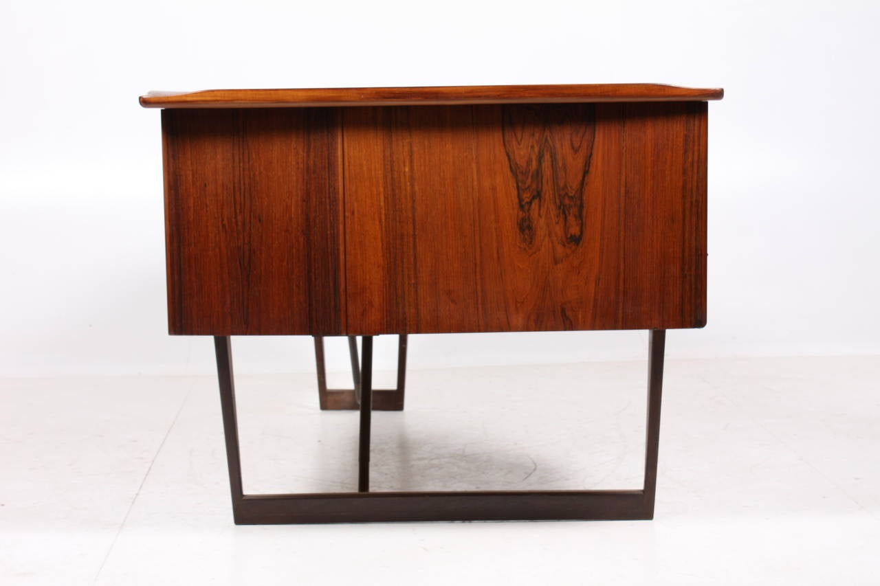 Danish Desk in Rosewood by SA Madsen For Sale