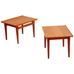 Pair of End Tables by Finn Juhl
