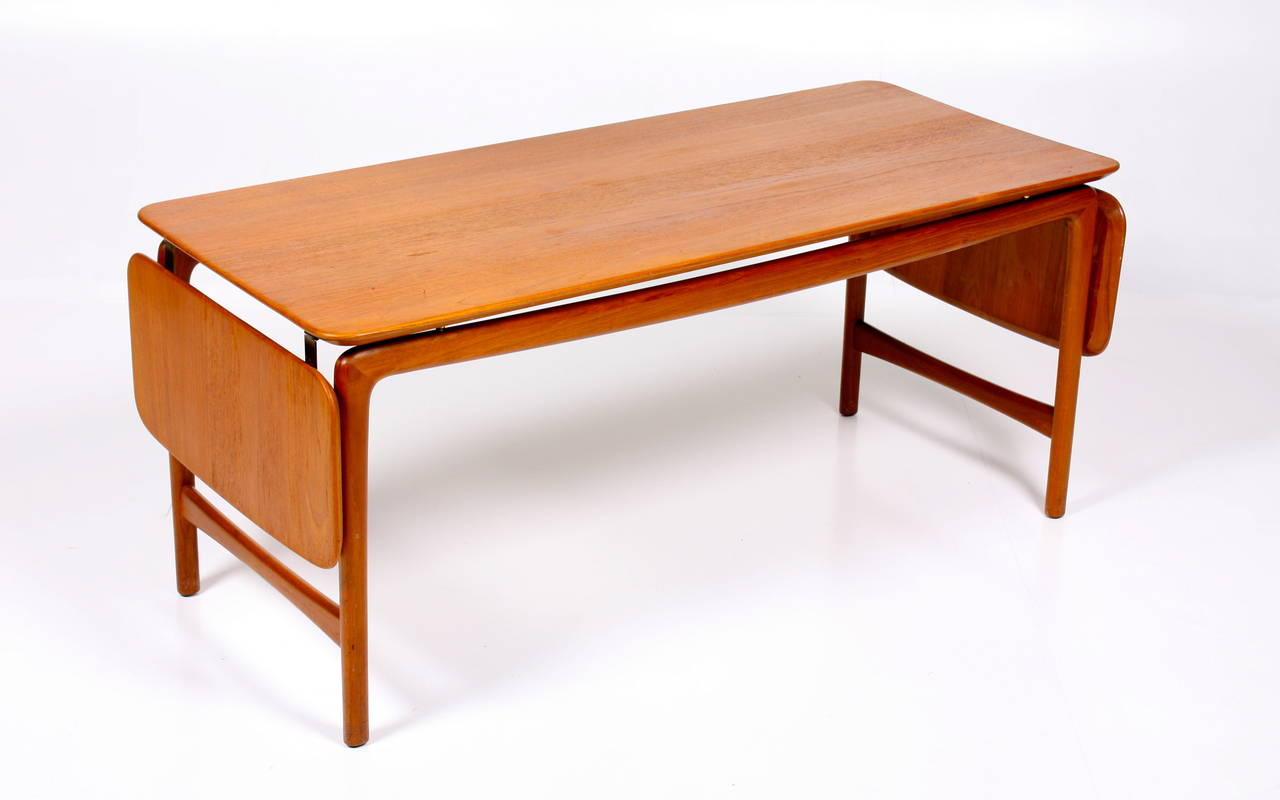 Coffee table in solid teak by kindt larsen for sale at 1stdibs Solid teak coffee table