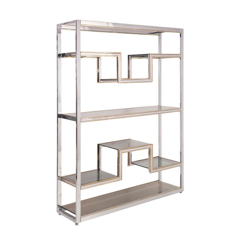 Romeo rega brass steel glass etagere at 1stdibs for Lsf home designs furniture