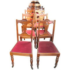 Set of 18 19th Century English Walnut Chairs