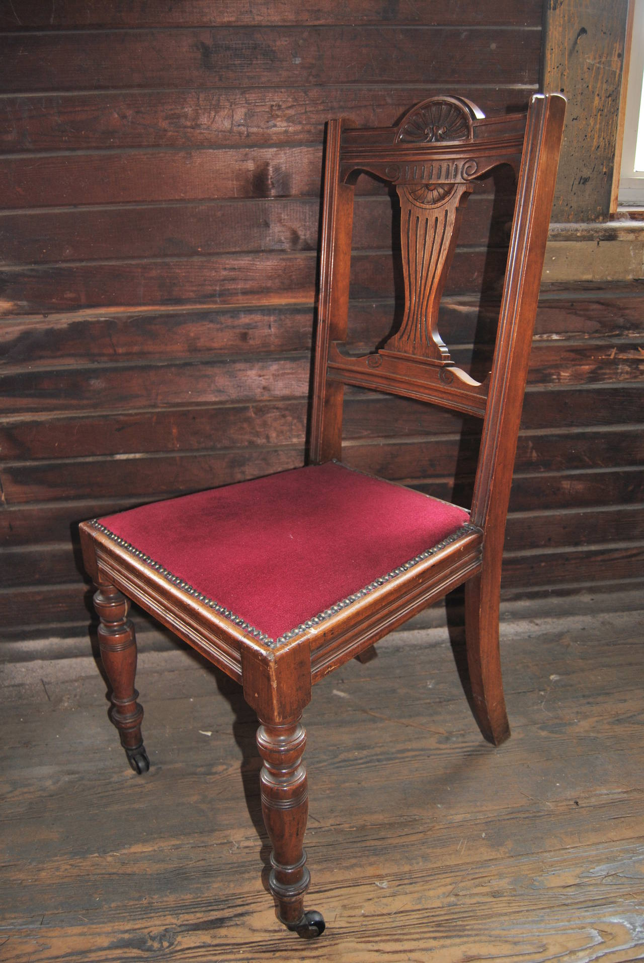 Victorian Set of 18 19th Century English Walnut Chairs For Sale