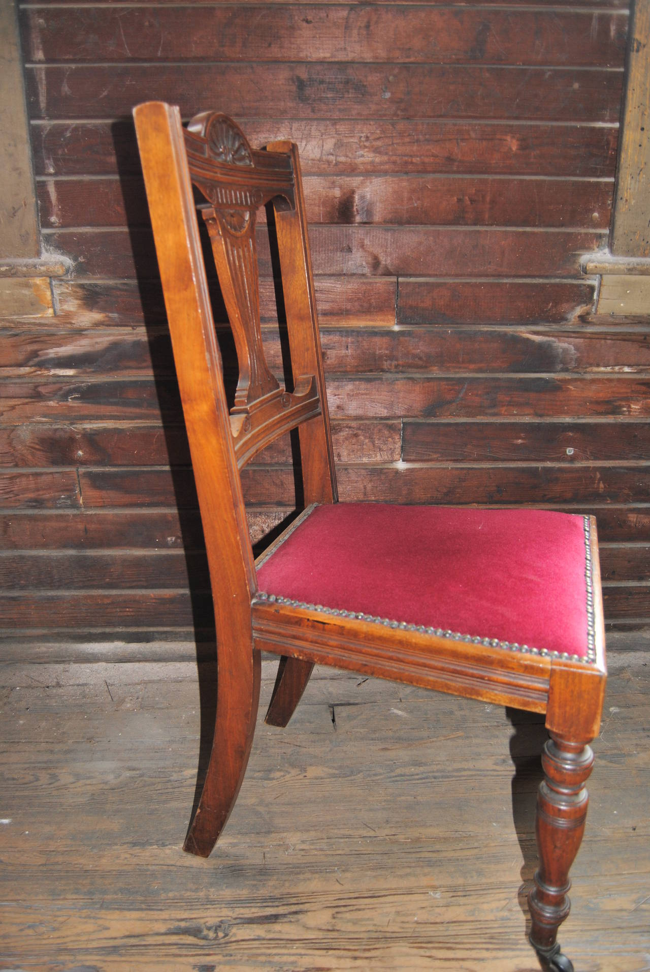 Late 19th Century Set of 18 19th Century English Walnut Chairs For Sale