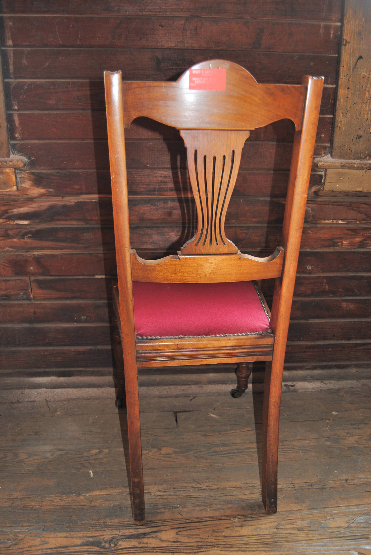 Set of 18 19th Century English Walnut Chairs For Sale 1
