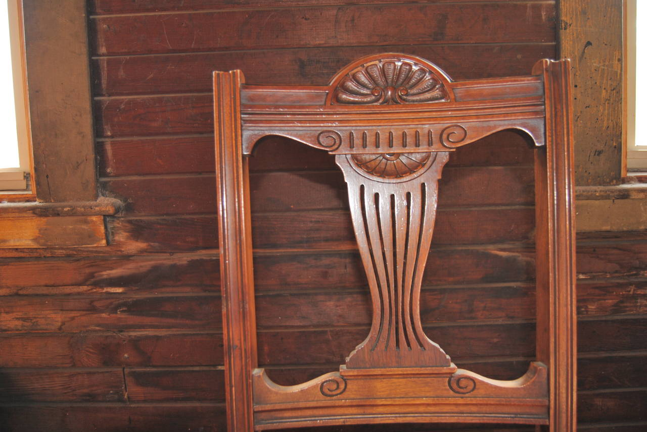 Set of 18 19th Century English Walnut Chairs For Sale 2
