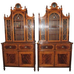 Matched Pair of English Regency Style Bookcases