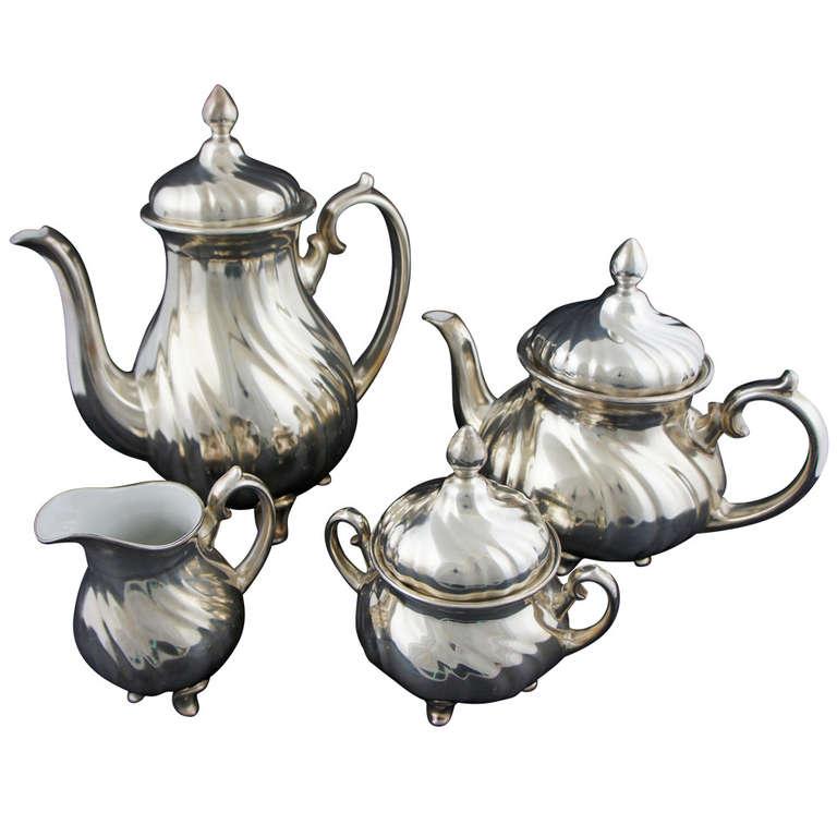 20th Century WMF Silver Porcelain Can Creamer Sugar Bowl  : 1077322l from 1stdibs.com size 768 x 768 jpeg 52kB