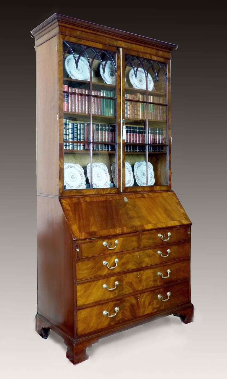 george iii period bureau bookcase at 1stdibs. Black Bedroom Furniture Sets. Home Design Ideas