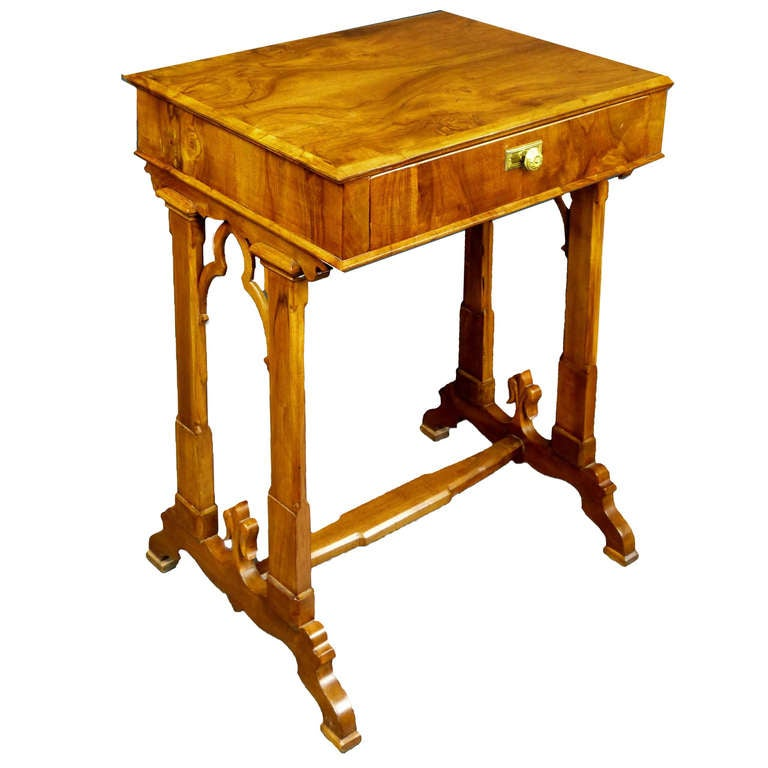 Early 19th Century Unique Biedermeier Sewing Side Table