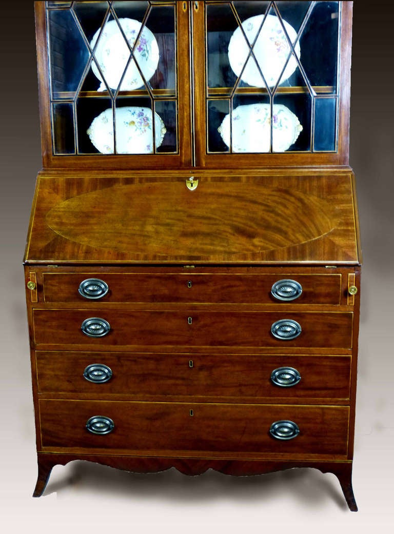georgian bureau bookcase secretaire at 1stdibs. Black Bedroom Furniture Sets. Home Design Ideas